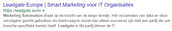 meta description voorbeeld